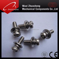M3 Stainless steel Phillips Pan Head Machine Screws with Captive Washer