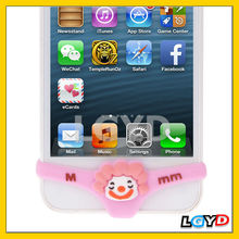 Smarty Pants Clown 2014 Decor Silicone Home Button Sticker for iPhone 5 / iPhone 4 & 4S (pink)