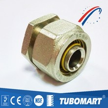 Tubomart tube fitting nipple brass fittings for pe al pe gas piping system