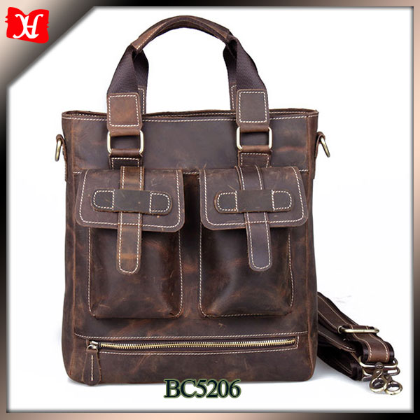 Korea style vintage leather brand handbags made in china