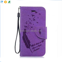 Latest product Luxury Court Flower diamond leather flip mobile phone case for iphone 6s