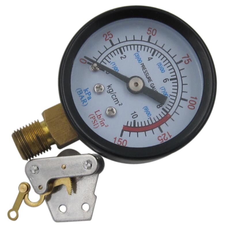 2.5 inch black steel brass internal vacuum pump pressure gauge