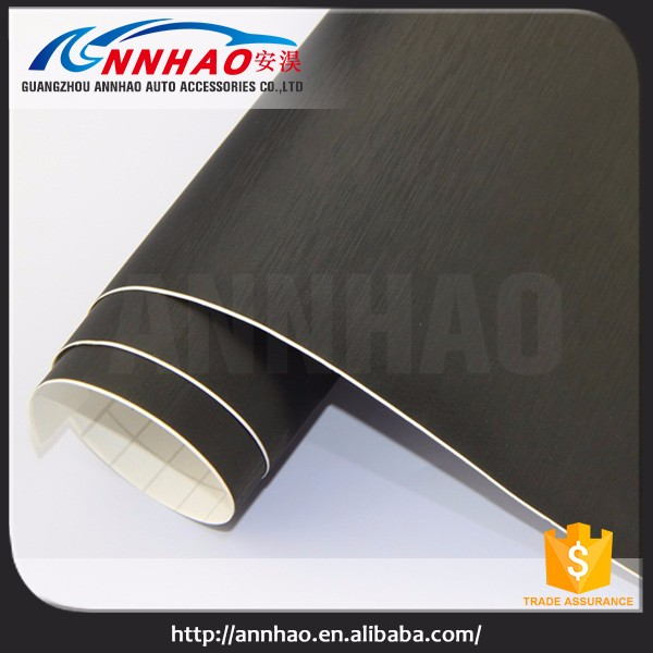 Annhao Air Free 1.52*30M Car Vinyl Wrap Roll Decoration Metal Brushed Car Wrap Vinyl