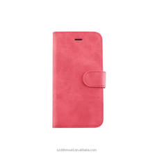 leather phone case for iphone6 wallet case with slot can custom logo
