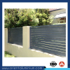 Aluminum slat fencing for gardens