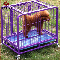 Heavy Duty Square Tube Dog Cage With Wheels For Sale Cheap