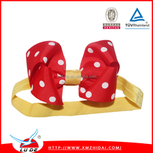 Cute grosgrain ribbon bows with elastic hair bands for baby/kids