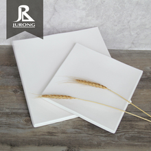 Eco-Friendly square shape plastic melamine rice <strong>flat</strong> plate for restaurant