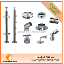 stainless steel handrail fitting for Stairs/Fence/Glass Railing/Balcony/Garden