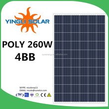 260w 30v solar panels with 4BB yingli cells YL260P-29b