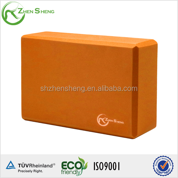 ZHENSHENG silk screened yoga block custom logo