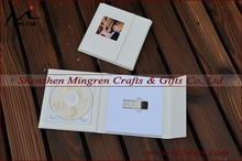 Wedding Leather Fabric Linen DVD USB Storage Packaging Box Case