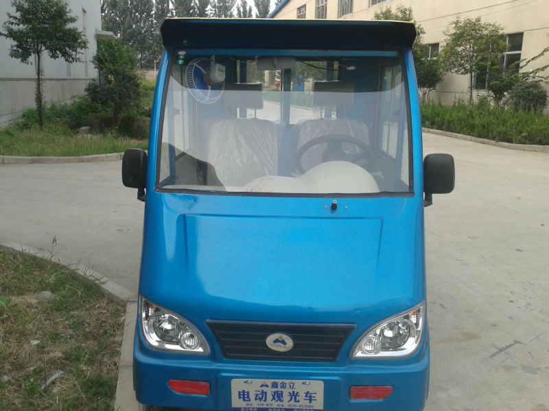 four wheel electric cargo truck with 2 passenger seaters