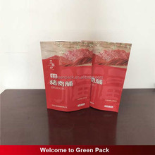 Customized top zip plastic bag/round bottom plastic bag/stand up pouch bag for meat,pork,beef,sea food