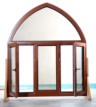 Solid Wood Casement Window With Arch