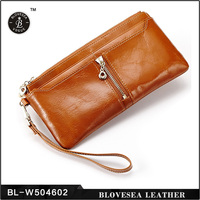 China Alibaba Supplier Wholesale Hot Designs Custom Made Ladeis Leather Wallet
