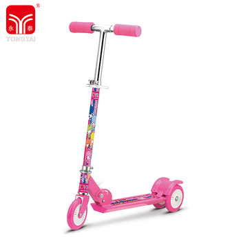 Original Adjustable Aluminum Foldable Scooter For Adult With 120MM PVC Tri-Wheel
