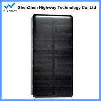 Slim aluminium solar charger panel mobile phone power bank