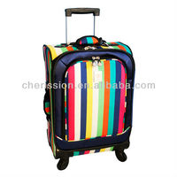 Multi Stripes 21-inch 360 quattro carry-on travel trolley luggage