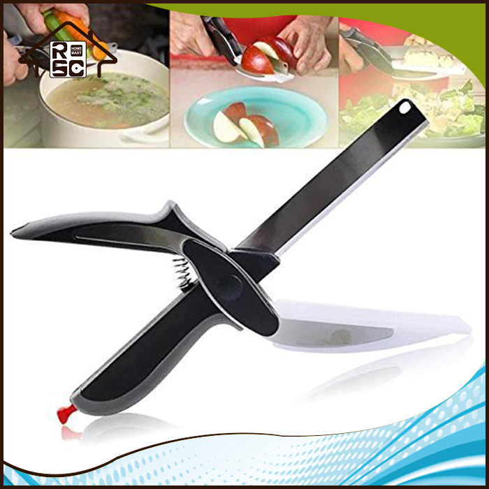 NBRSC 2-In-1 Kitchen Knife and Cutting Board Scissors Vegetable Cutter Food Chopper As Seen on TV