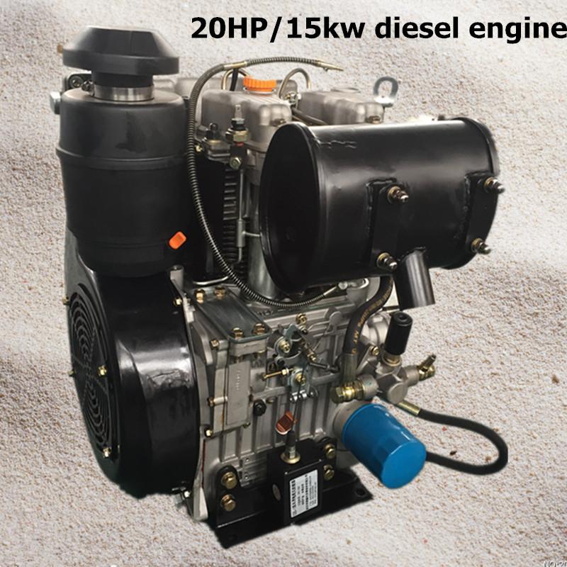 China Price 2 Cylinder Diesel Engine