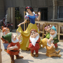 life size fiberglass snow white statue for garden decoration