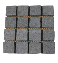 Garden Stepping Pavements Grey Granite Cubes