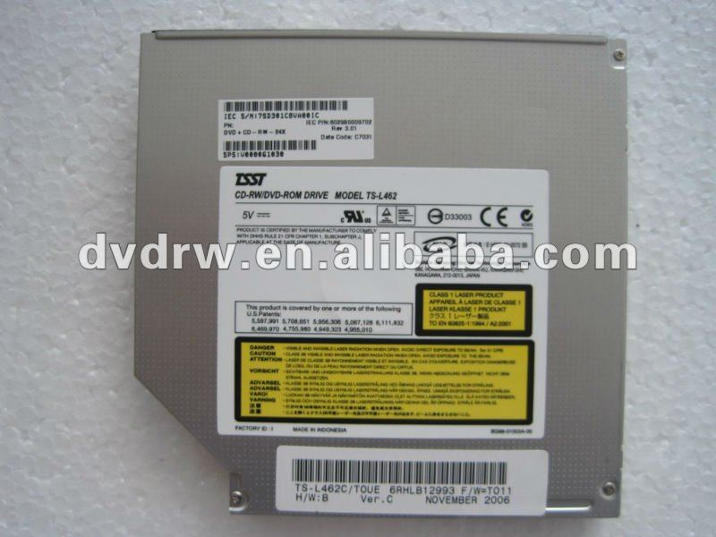 New Original laptop dvd combo drive TS-L462 IDE interface