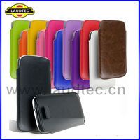 Stylish Premium PU Leather Pouch Case for Samsung Galaxy S3 i9300 --Laudtec