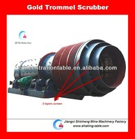 gold wash trommel scrubber with inner rubber lining