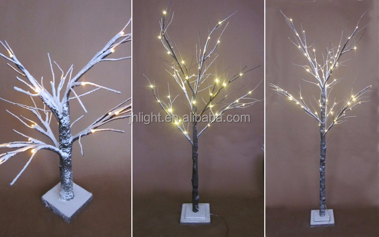 decoration pre lit led christmas twig snowy light tree