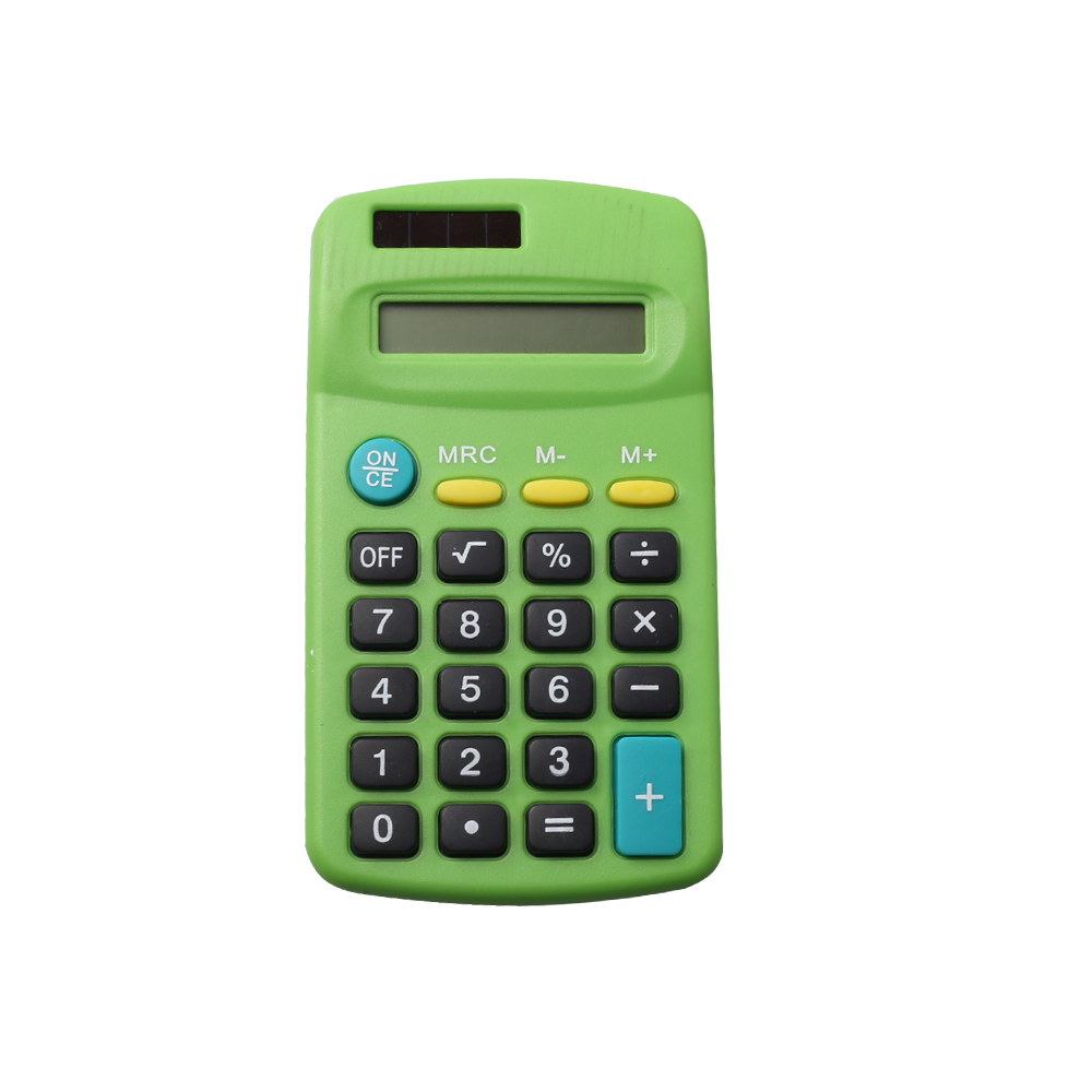 Children Using Solar Power 8 Digits Mini Pocket Calculator