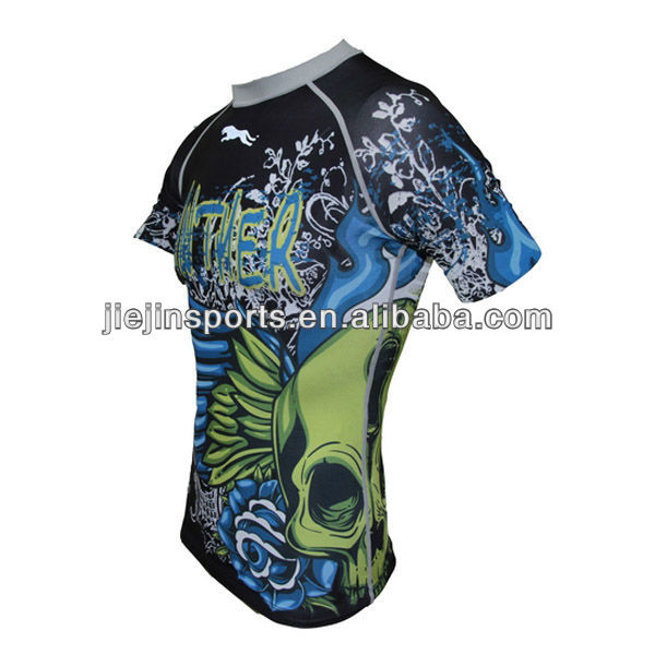 Sublimation Compresson Rush Guard,Lycra suits