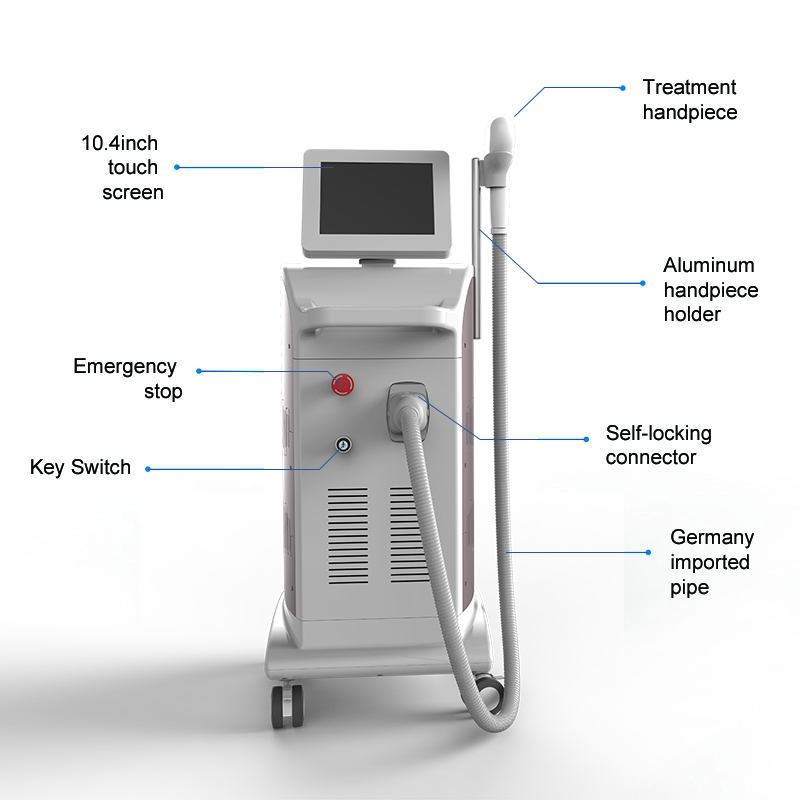 Newest model FDA approval Triple Wave 1064nm 755nm 810nm diode laser hair removal
