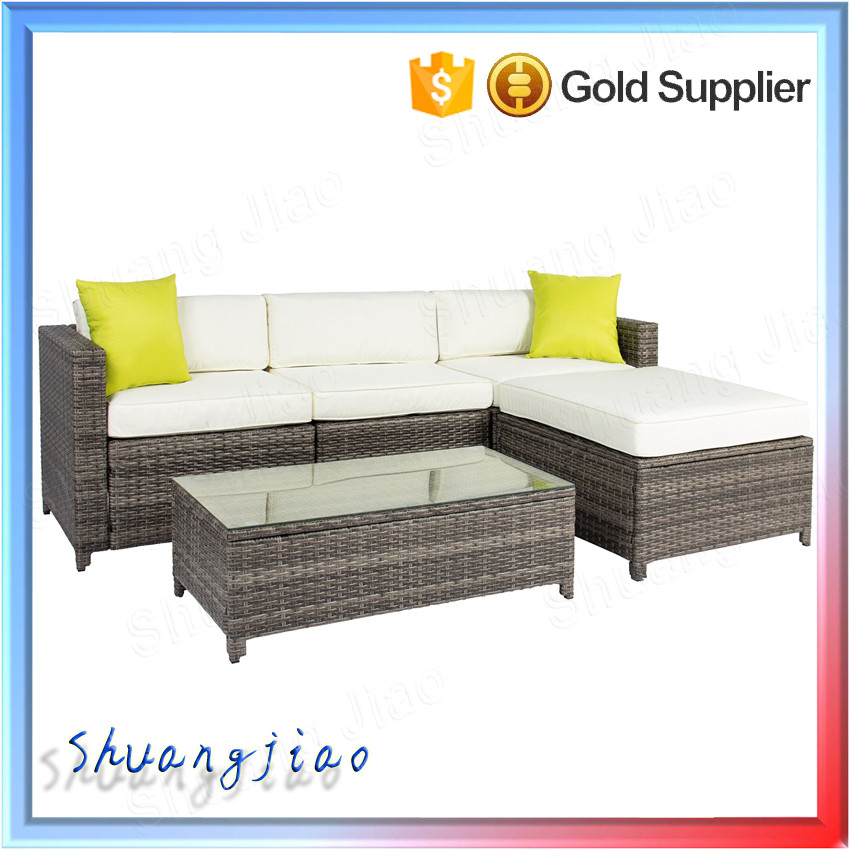Best Choice Products Cushioned Sectional 5PC Rattan Wicker Outdoor Garden Patio Grey Sofa Set