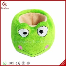Custom Embroidery Plush Animal Phone Stand Stuffed Green Frog Cellphone Holder Cartoon Plush Frog Mobile Phone Holder