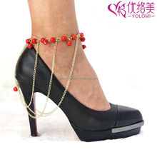 Shoes Anklet Chain Silver Anklets Designs High Heel Shoe Ankle Chains Jewelry HSC-AA08