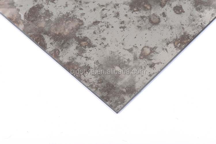 Smoke gray Beveled Glossy Mirror Subway Tiles 200x100mm