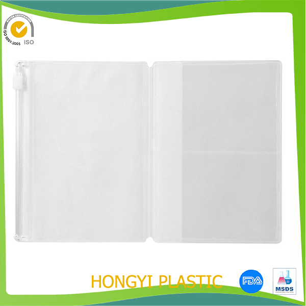 Soft Clear Plastic PVC Traveler's Notebook Cover & Zipper Case Passport Holder