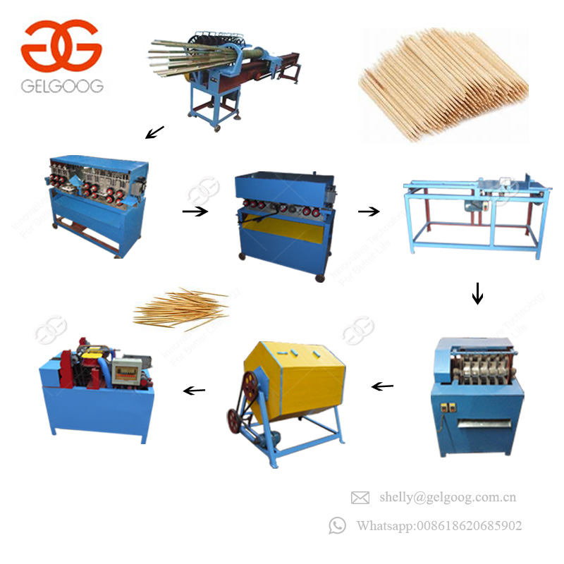 Market Oriented Bbq Incense Wooden Stick Forming Processing Machinery Bamboo Toothpick Production Line