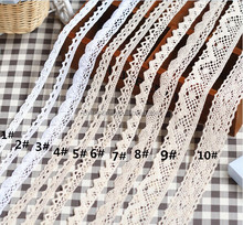 fashion styles 100% cotton crochet cotton lace trim cotton eyelet lace trim