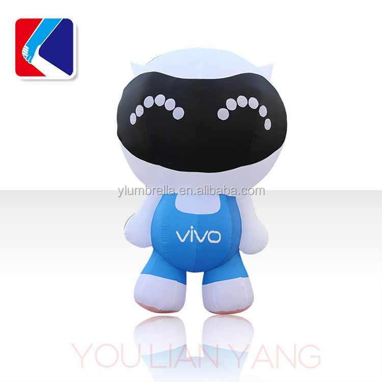 Moving inflatable cartoon inflatable cartons / models for advertising for VIVO