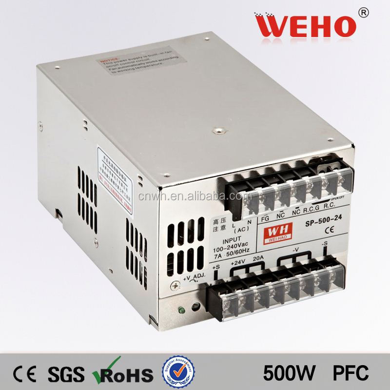 100% Original 500W single output with PFC Function ite power supply 15v