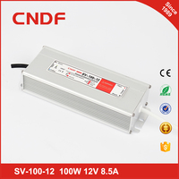 China supplier CNDF waterproof SV-100-12 100w 12volt constant Voltage led driver IP67
