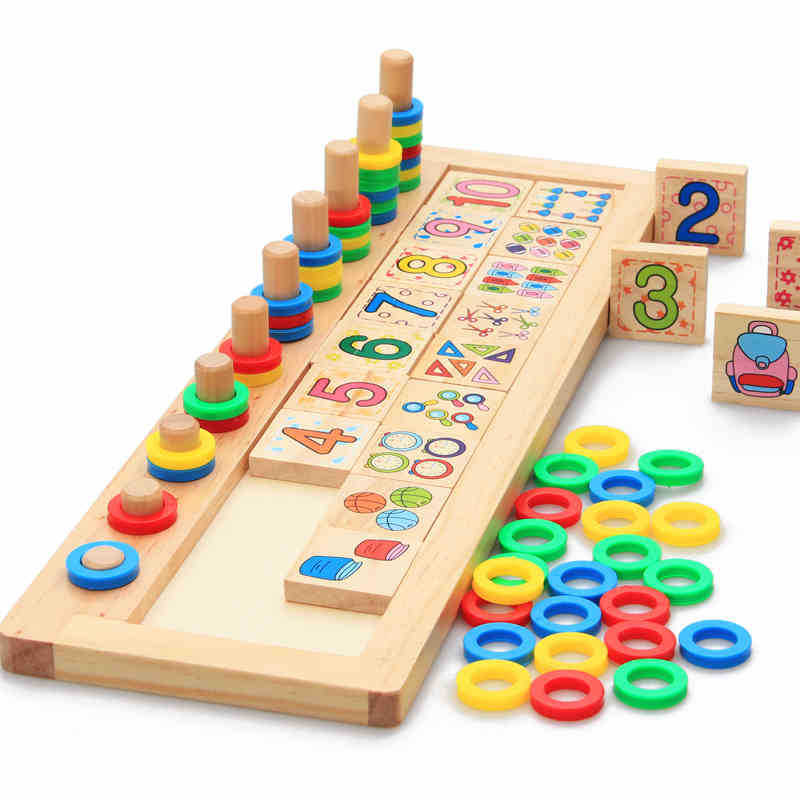 Non-Toxic Paint Classic Wooden Educational Counting Toy
