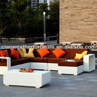 Garden Plastic Rattan Outdoor Furniture Sofa