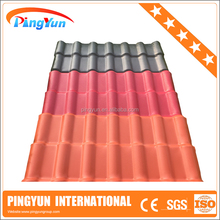 UV protection Lightweight Composite Plastic roofing materials/Synthetic Resin roof tile ASA coated/PVC UPVC APVC roof tile