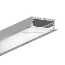 housing thin flat embed recessed led aluminum profile18.0*52.0with pc cover for led strips