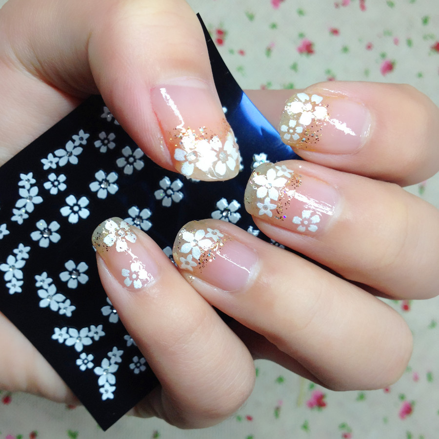 Nail tattoo, cute pattern butterfly flowers nail stickers