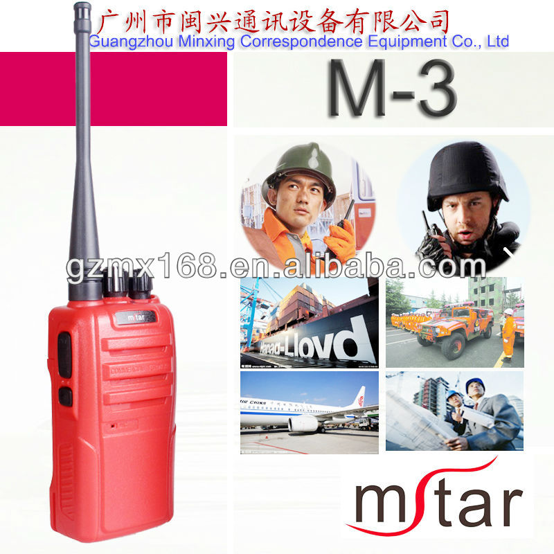 Professional commercial use VHF/UHF walkie talkie hf ham radio transceiver M-3